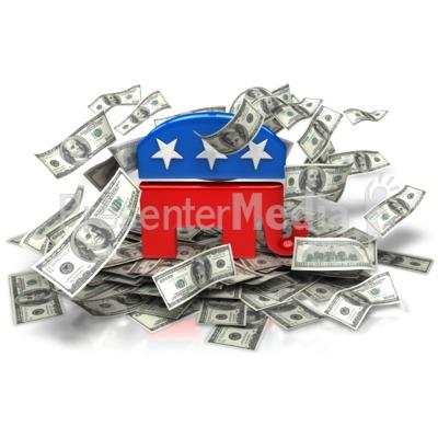 Republican Party Money Presentation clipart