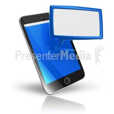 Smart Phone Texting Box Presentation clipart