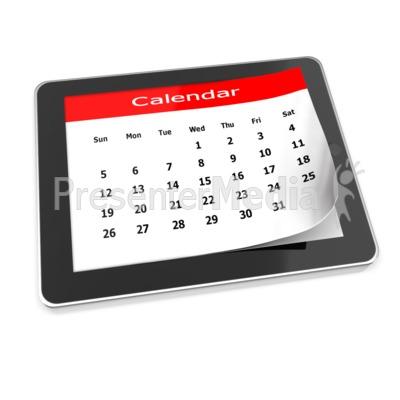 Tablet Calendar Presentation clipart