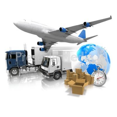 World Transportation Shipment Presentation clipart