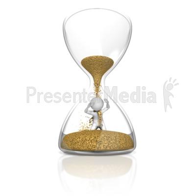 Stick Figure In Hourglass Presentation clipart