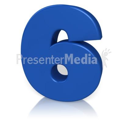 Number Six Presentation clipart