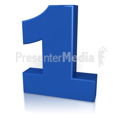 Number One Presentation clipart