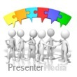 ID# 9890 - Talking Puzzle Connection - Presentation Clipart