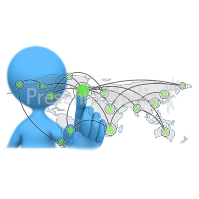 Global Touch Connection PowerPoint Clip Art