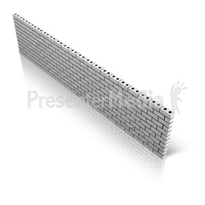 Diagonal Brick Wall Presentation clipart