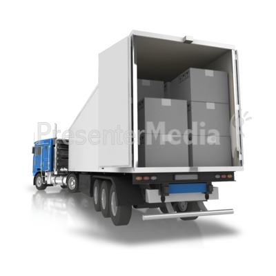 Semi Trailer Backup Boxes Presentation clipart