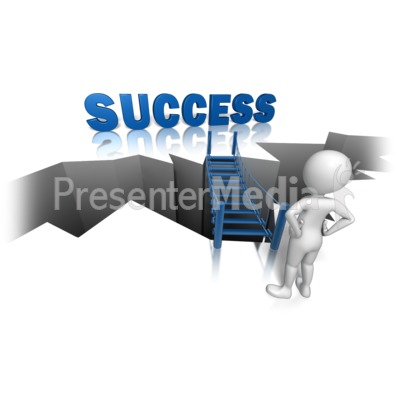 Success On The Other Side Presentation clipart