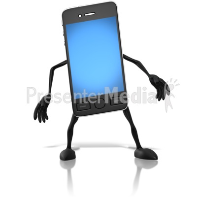 Smart Phone Character Presentation clipart