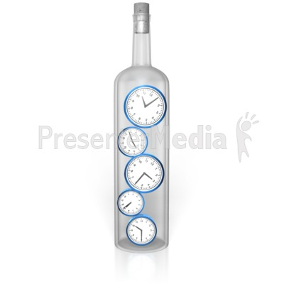 Time In A Bottle Presentation clipart