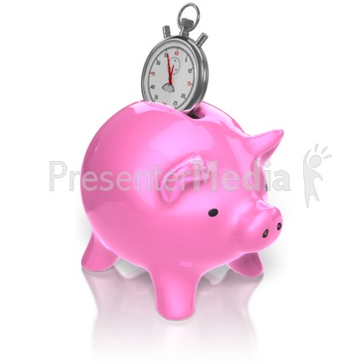 Piggy Bank Time Presentation clipart