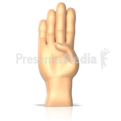 Sign Language letter B Presentation clipart