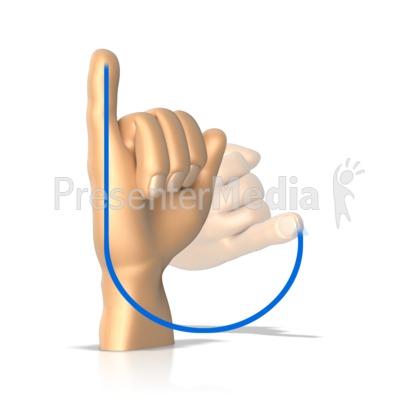Sign Language Letter J Presentation clipart
