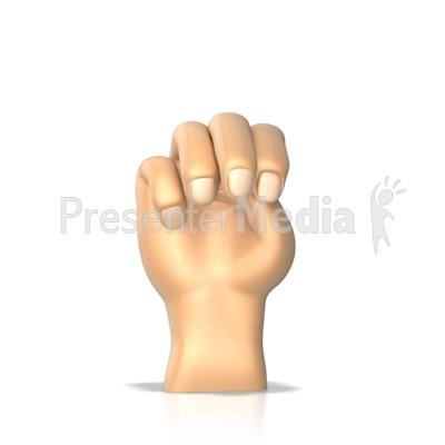 Sign Language Letter M Presentation clipart