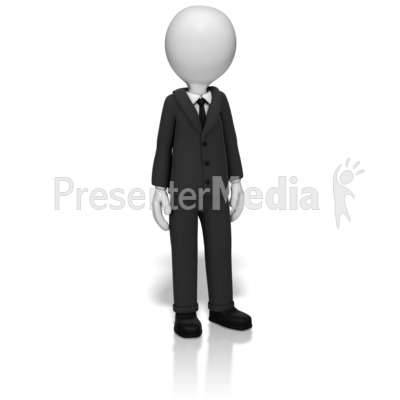 Businessman Standing Presentation clipart