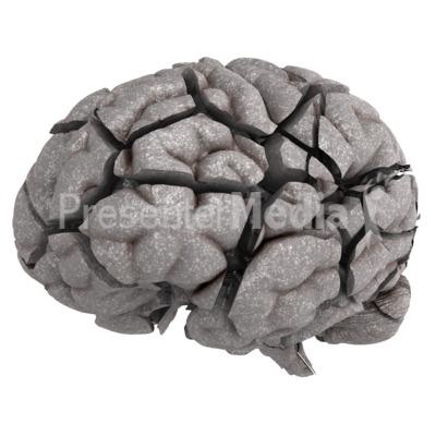Brain Fractured Presentation clipart