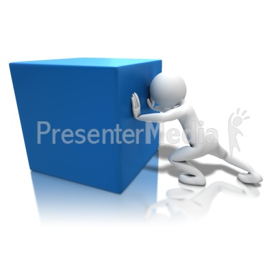 Pushing Heavy Box Presentation clipart