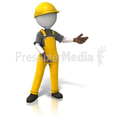 Construction Worker Display Presentation clipart