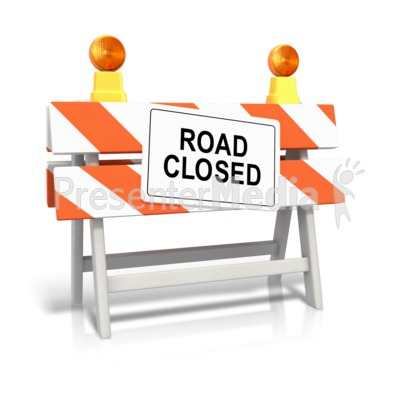 Road Closed Sign Presentation clipart