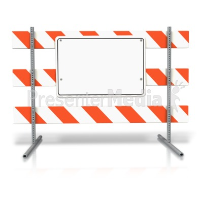 Stand Up Road Sign Blank Presentation clipart