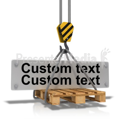 Hook Carrying Construction Plate Text Presentation clipart