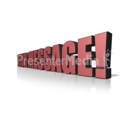3d Text Perspective Presentation clipart