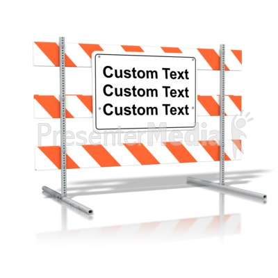 Standing Road Sign Blank Text Presentation clipart