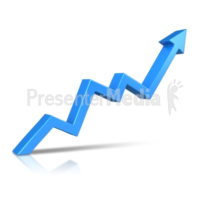 Arrow Climbing Upward Presentation clipart