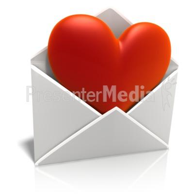 Sending Love Envelope Presentation clipart