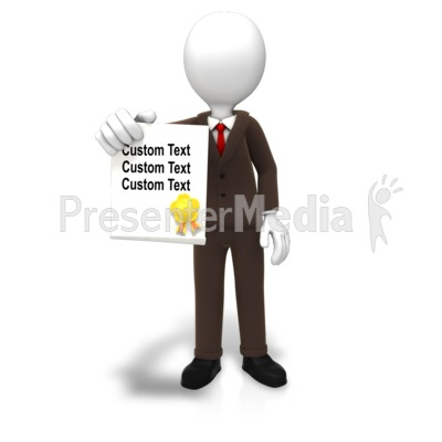 Man With Award Document Text Presentation clipart