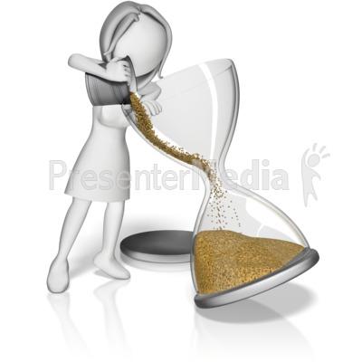 Female Filling Hourglass Presentation clipart