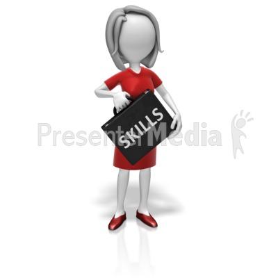 Businesswoman Skills Briefcase Presentation clipart