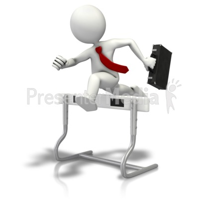 Hurdles To Business Presentation clipart