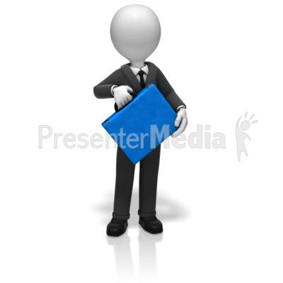 Businessman Briefcase Presentation clipart