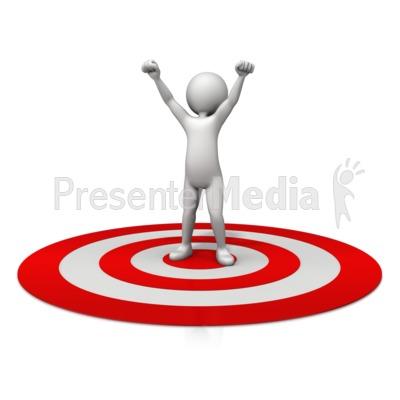 Figure Celebration On Target Presentation clipart