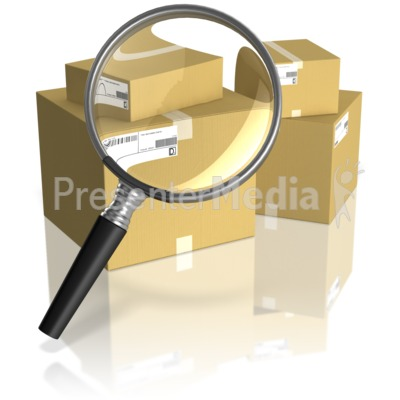 Searching Shipping Boxes Presentation clipart