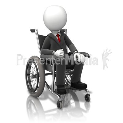 Business Figure Wheelchair Presentation clipart
