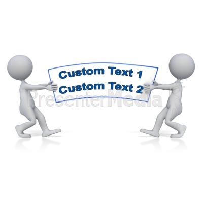Tug Of War Text Presentation clipart