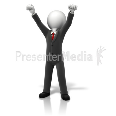 Business Celebration Arms Up Presentation clipart