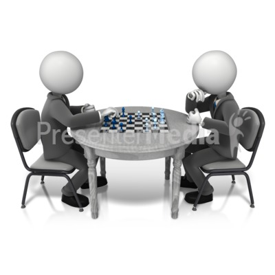 Competitor Playing Chess Presentation clipart