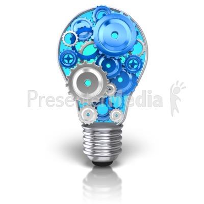 Light Bulb Idea Gears Presentation clipart