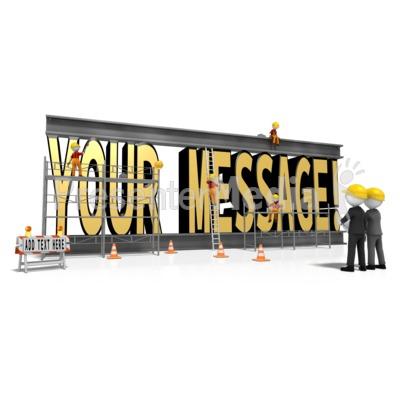 Constructing Custom Text Presentation clipart