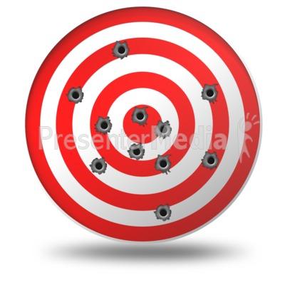 Target Gun Shots Presentation clipart