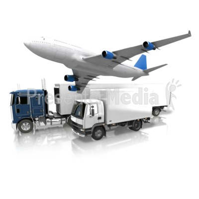 Transportation By Land And Air Presentation clipart