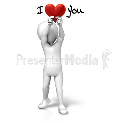 Holding Heart I Love You Presentation clipart