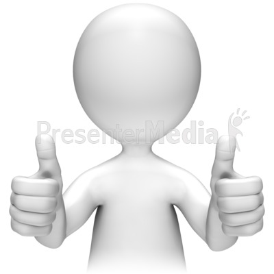 Two Thumbs Up Presentation clipart