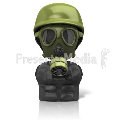 Gas Mask Figure Icon Presentation clipart