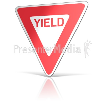 Yield Sign  Presentation clipart