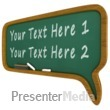 ID# 11727 - Chalkboard Call Out Text Bubble - Presentation Clipart
