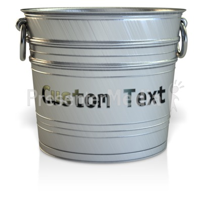 Empty Bucket Custom  Signs and Symbols  Great Clipart for